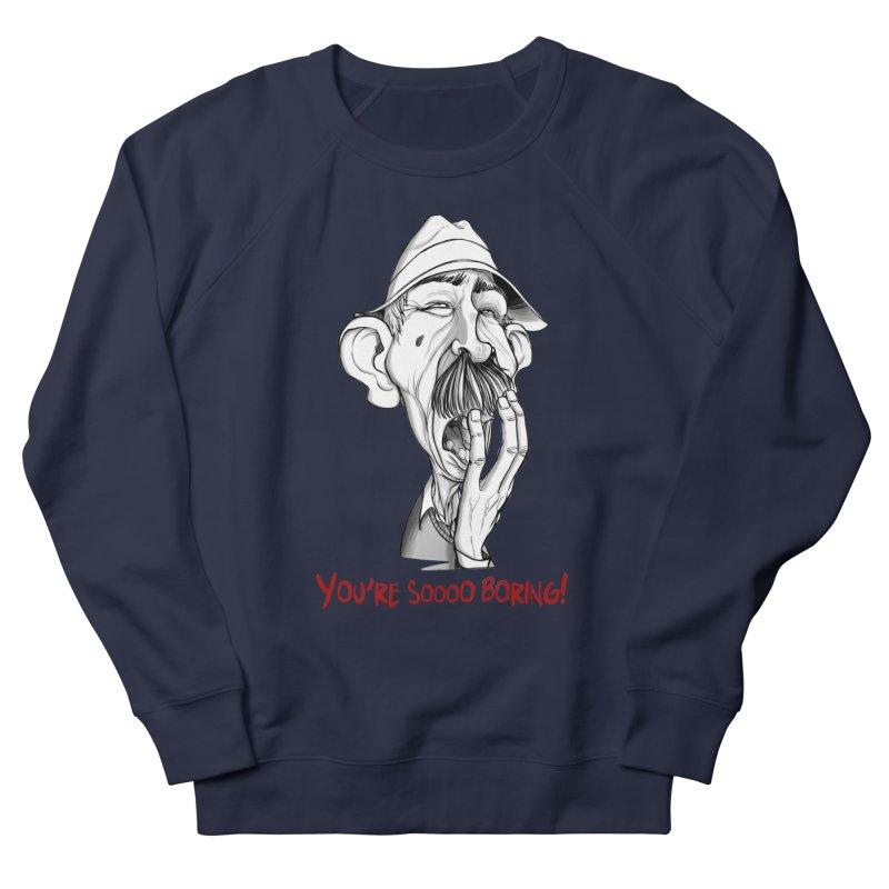 Bored Man Women's Sweatshirt by roby's Artist Shop