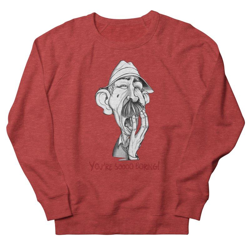 Bored Man Men's Sweatshirt by roby's Artist Shop