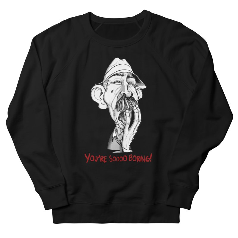 Bored Man Men's French Terry Sweatshirt by roby's Artist Shop