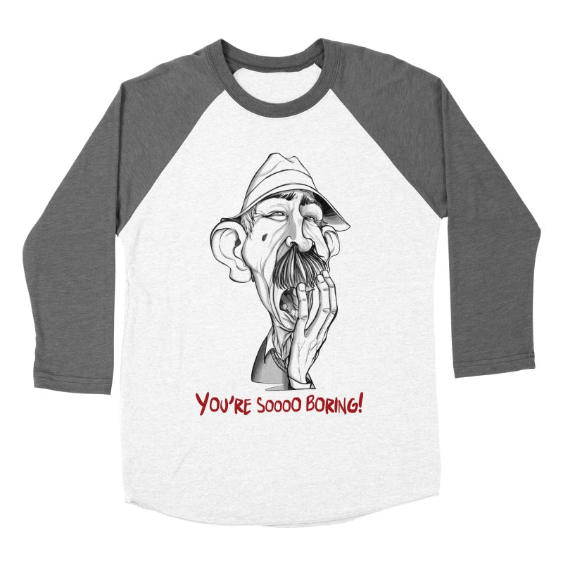 Bored Man Women's Baseball Triblend Longsleeve T-Shirt by roby's Artist Shop