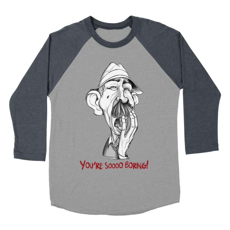 Bored Man Men's Baseball Triblend T-Shirt by roby's Artist Shop