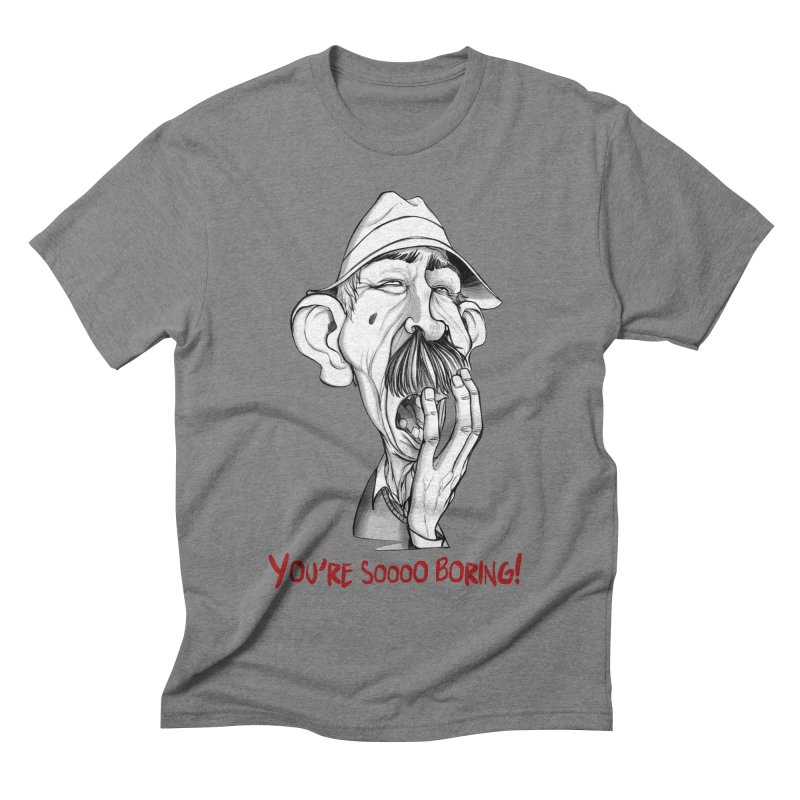 Bored Man Men's Triblend T-shirt by roby's Artist Shop