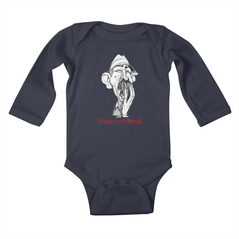 Bored Man Kids Baby Longsleeve Bodysuit by roby's Artist Shop