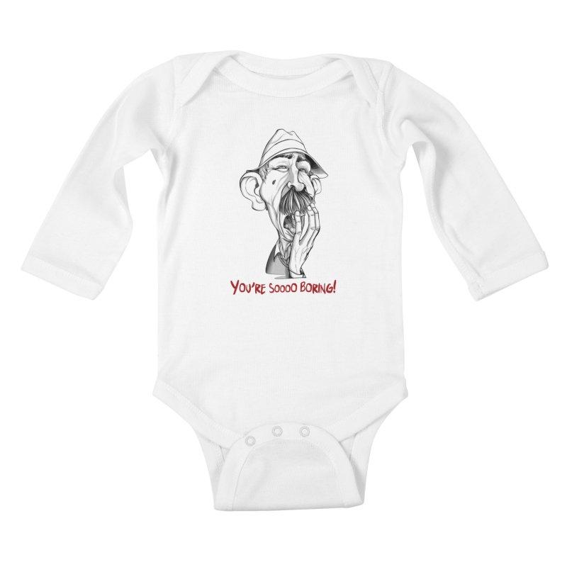 Bored Man Kids Baby Longsleeve Bodysuit by roby's Artist Shop
