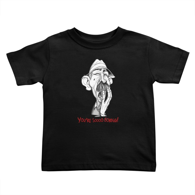 Bored Man Kids Toddler T-Shirt by roby's Artist Shop