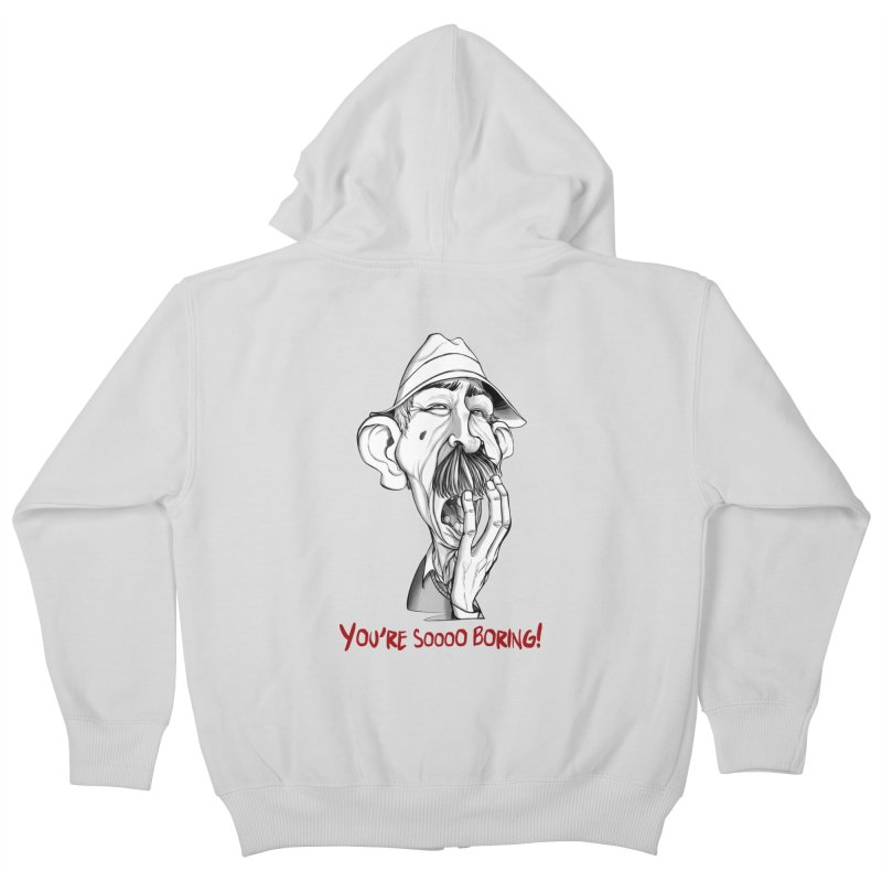 Bored Man Kids Zip-Up Hoody by roby's Artist Shop