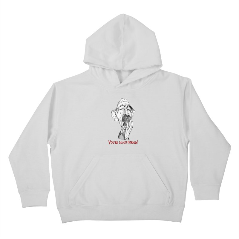 Bored Man Kids Pullover Hoody by roby's Artist Shop