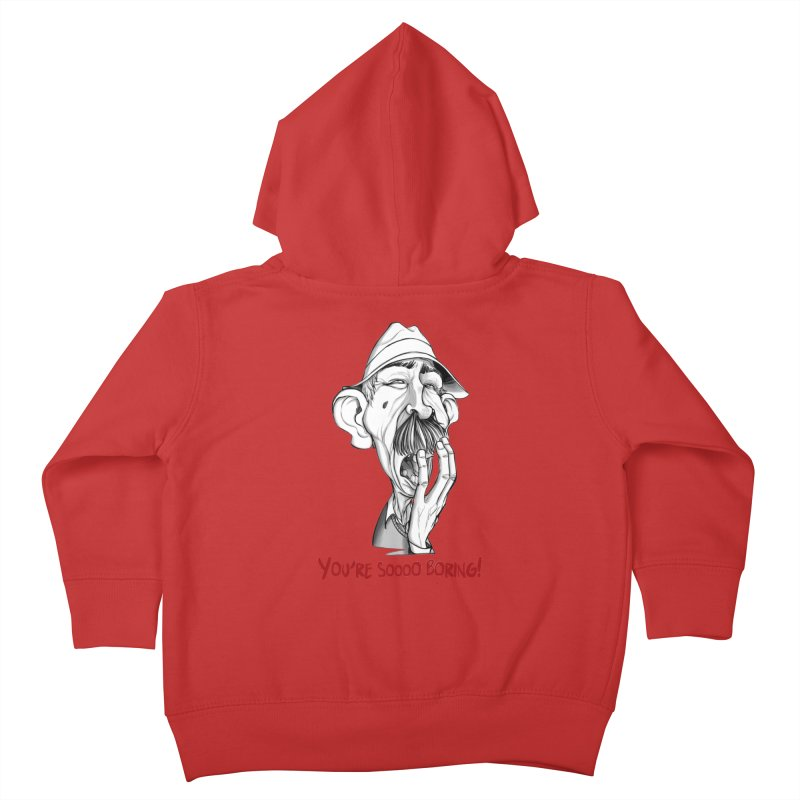 Bored Man Kids Toddler Zip-Up Hoody by roby's Artist Shop