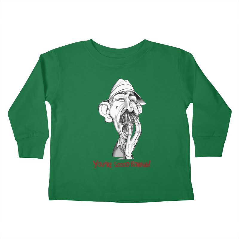 Bored Man Kids Toddler Longsleeve T-Shirt by roby's Artist Shop
