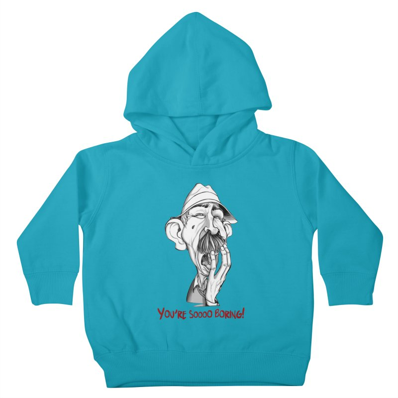 Bored Man Kids Toddler Pullover Hoody by roby's Artist Shop