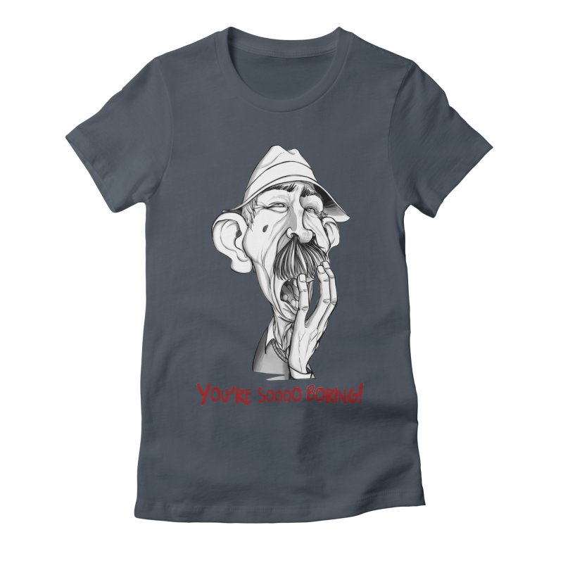 Bored Man Women's T-Shirt by roby's Artist Shop