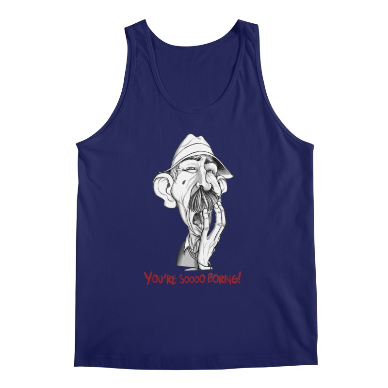 Bored Man Men's Tank by roby's Artist Shop