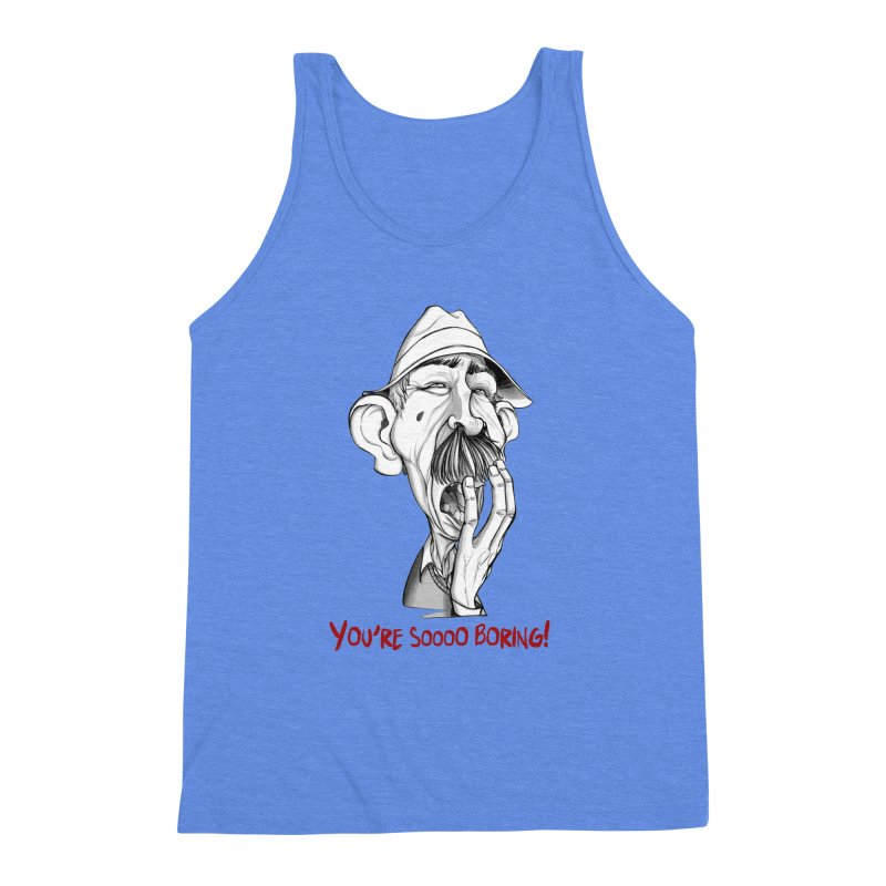 Bored Man Men's Triblend Tank by roby's Artist Shop