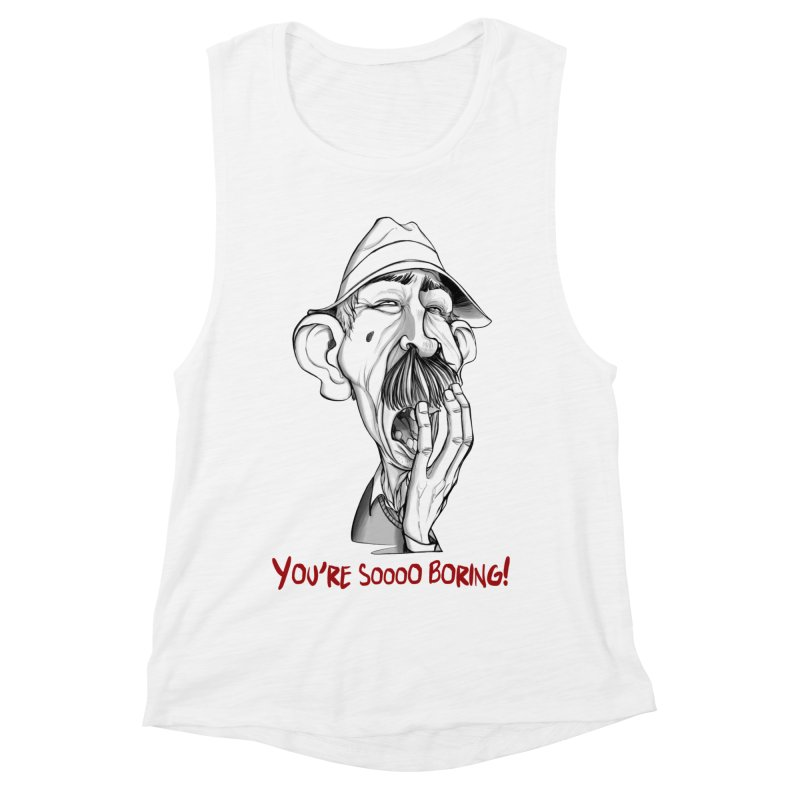 Bored Man Women's Muscle Tank by roby's Artist Shop