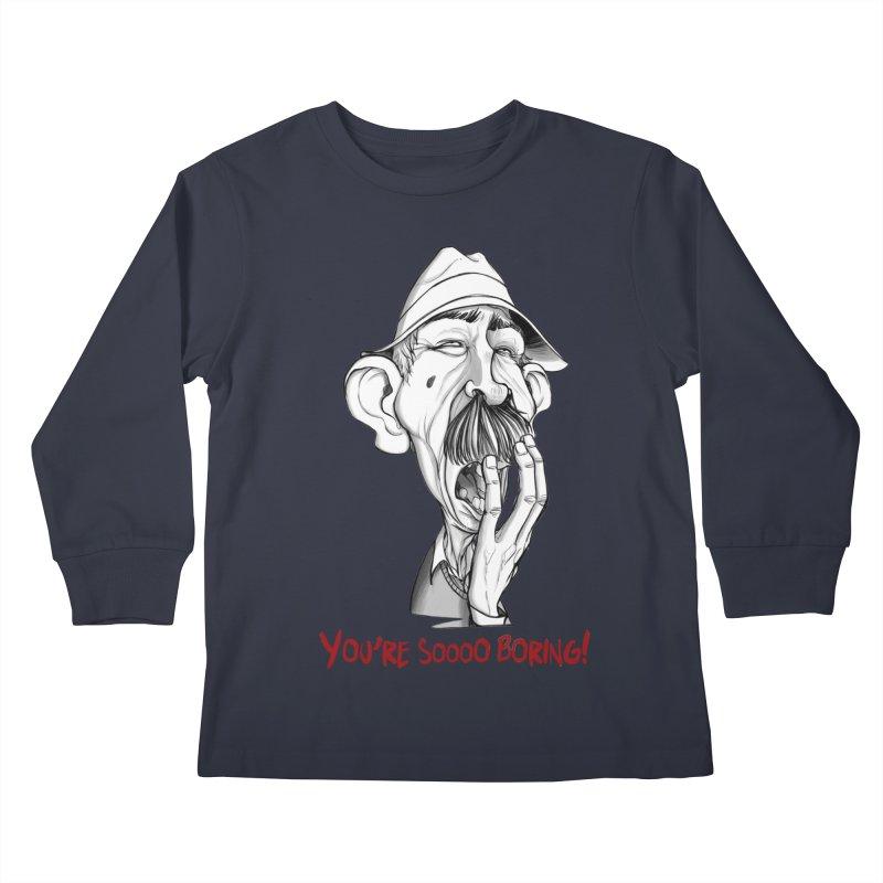 Bored Man Kids Longsleeve T-Shirt by roby's Artist Shop
