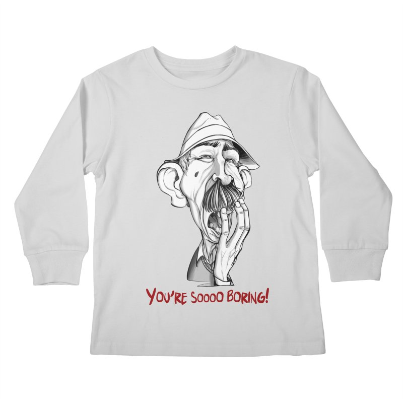 Bored Man Kids Longsleeve T-Shirt by roby's Artist Shop