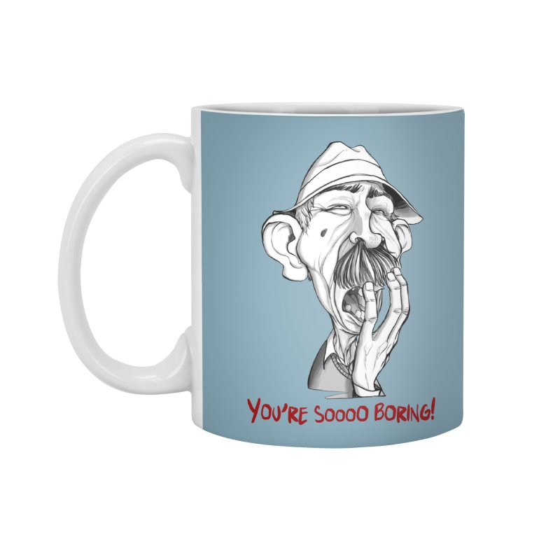 Bored Man Accessories Standard Mug by roby's Artist Shop