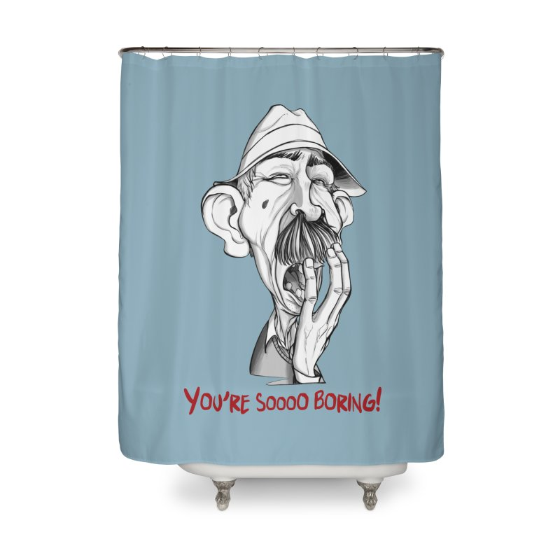 Bored Man Home Shower Curtain by roby's Artist Shop