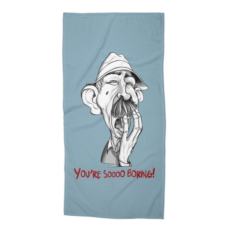 Bored Man Accessories Beach Towel by roby's Artist Shop