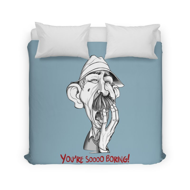 Bored Man Home Duvet by roby's Artist Shop