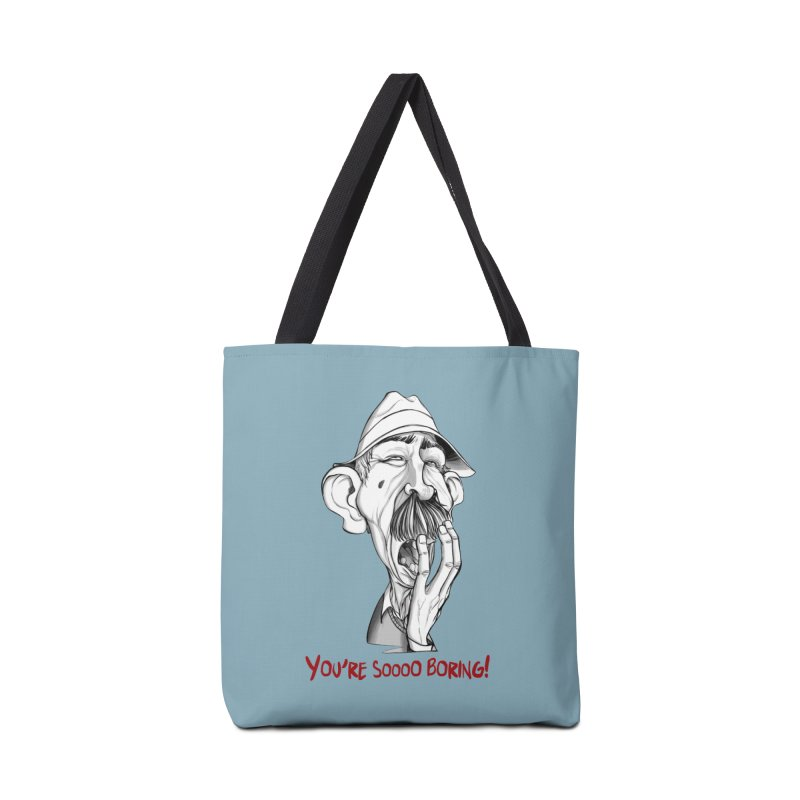 Bored Man Accessories Bag by roby's Artist Shop