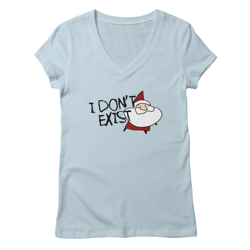 I Don't Exist Women's V-Neck by roby's Artist Shop