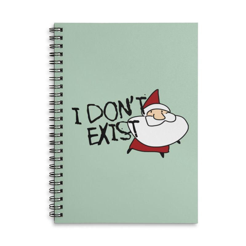 I Don't Exist Accessories Lined Spiral Notebook by roby's Artist Shop