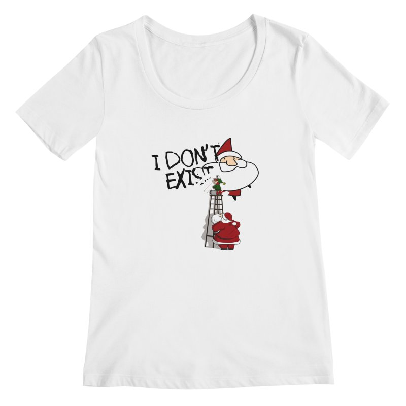 Exist or Not Exist Women's Scoopneck by roby's Artist Shop