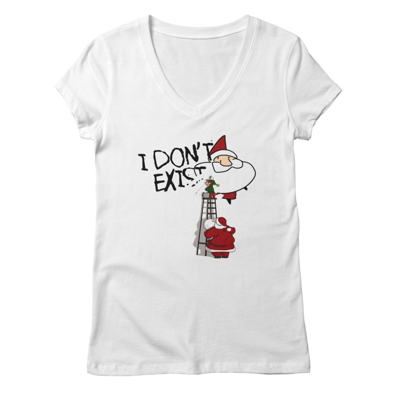 Exist or Not Exist Women's Regular V-Neck by roby's Artist Shop