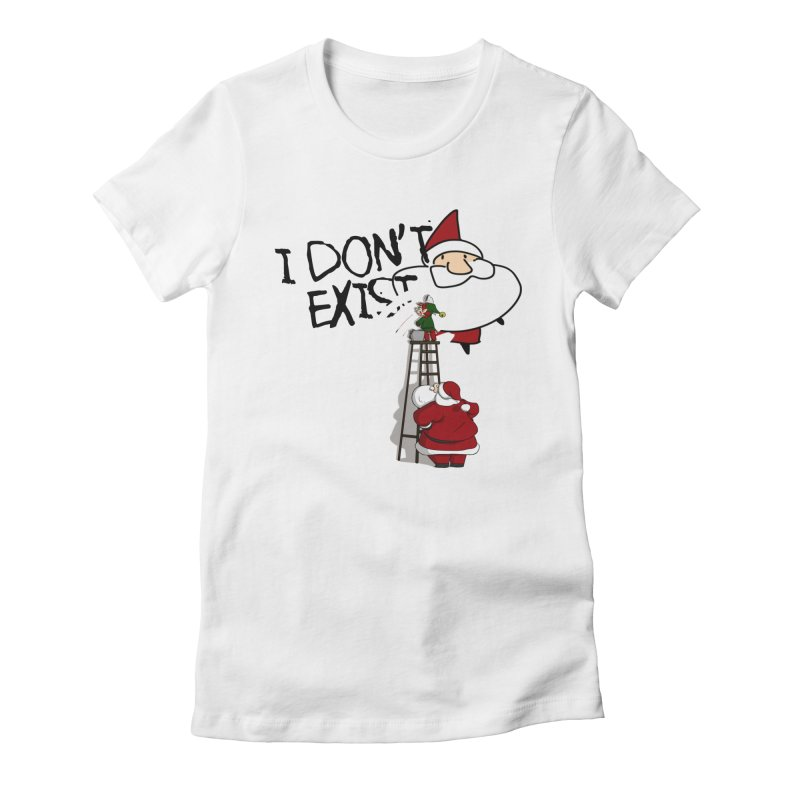 Exist or Not Exist Women's Fitted T-Shirt by roby's Artist Shop