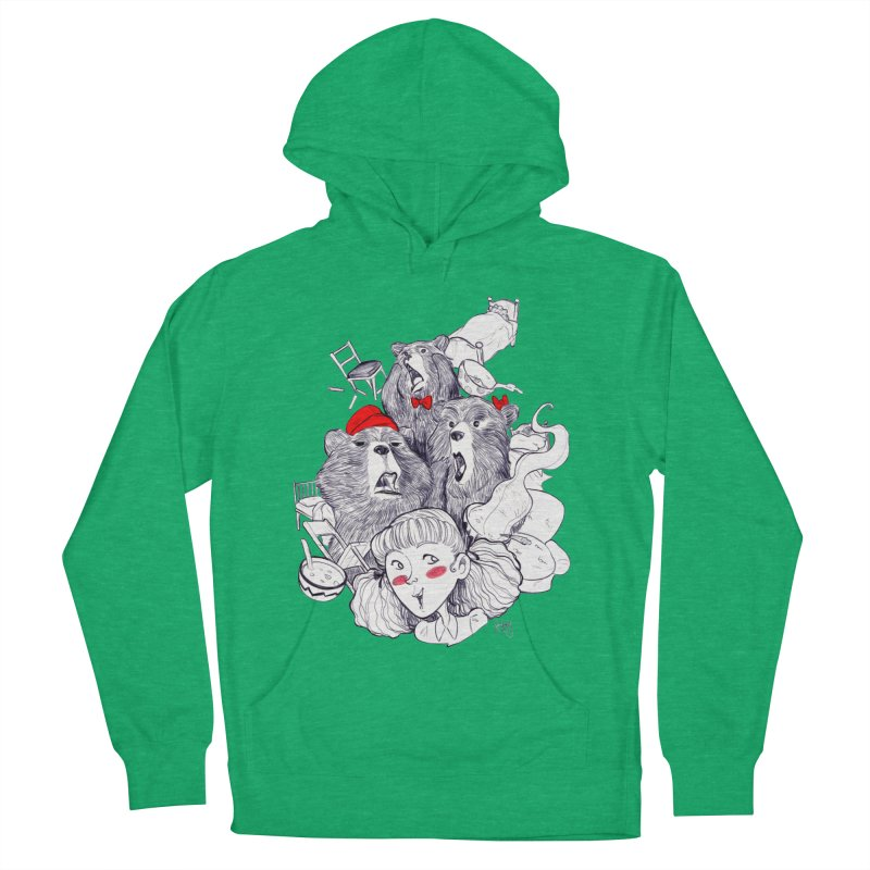 TheThreeBears Women's French Terry Pullover Hoody by roby's Artist Shop