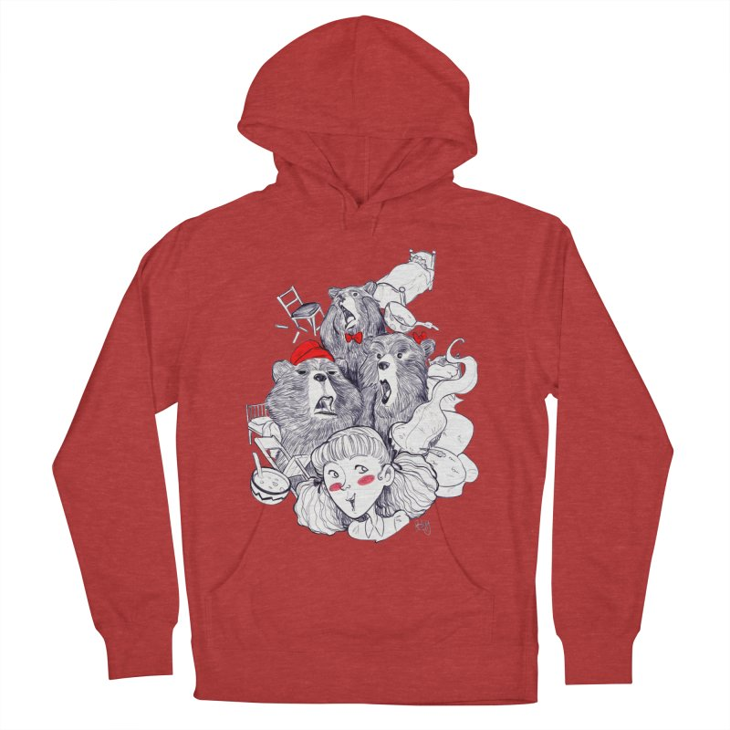 TheThreeBears Men's French Terry Pullover Hoody by roby's Artist Shop