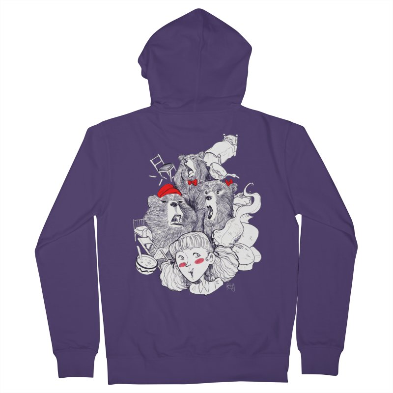 TheThreeBears Women's French Terry Zip-Up Hoody by roby's Artist Shop