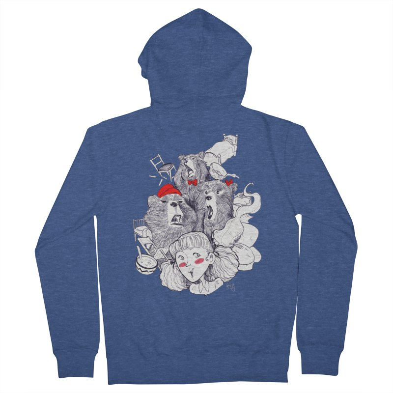 TheThreeBears Men's French Terry Zip-Up Hoody by roby's Artist Shop