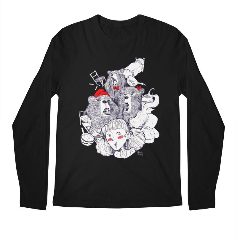 TheThreeBears Men's Regular Longsleeve T-Shirt by roby's Artist Shop