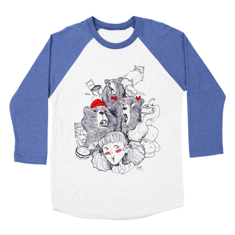 TheThreeBears Women's Baseball Triblend Longsleeve T-Shirt by roby's Artist Shop