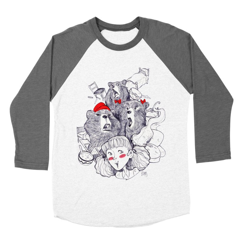 TheThreeBears Women's Baseball Triblend T-Shirt by roby's Artist Shop