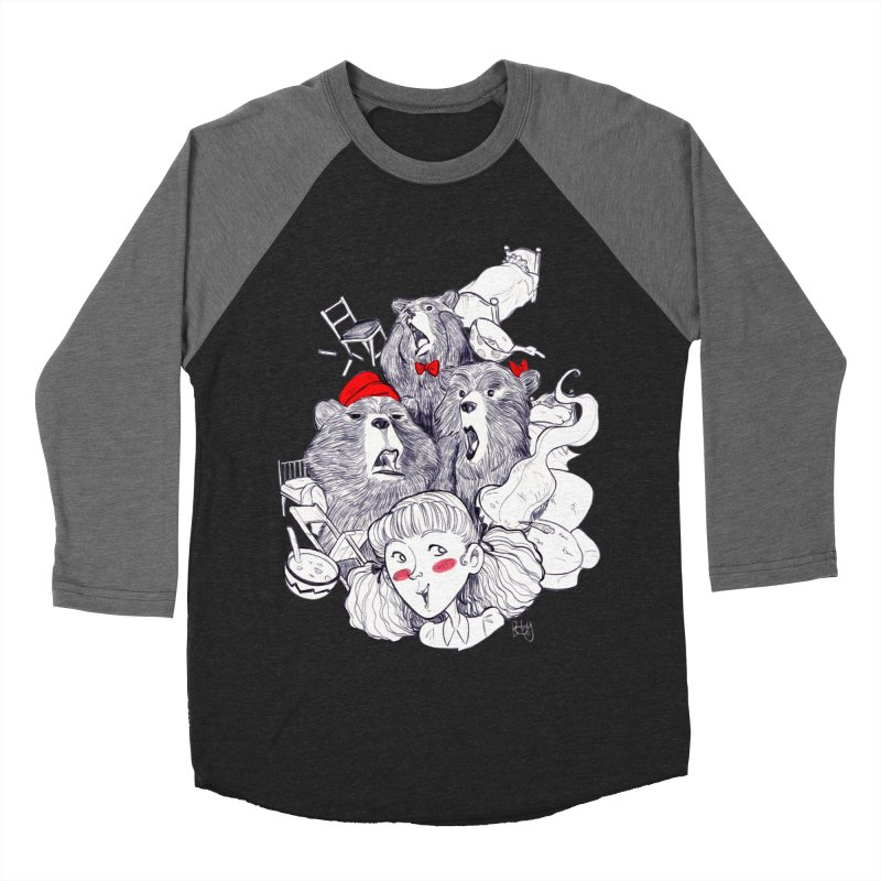 TheThreeBears Women's Baseball Triblend Longsleeve T-Shirt by roby's Artist Shop