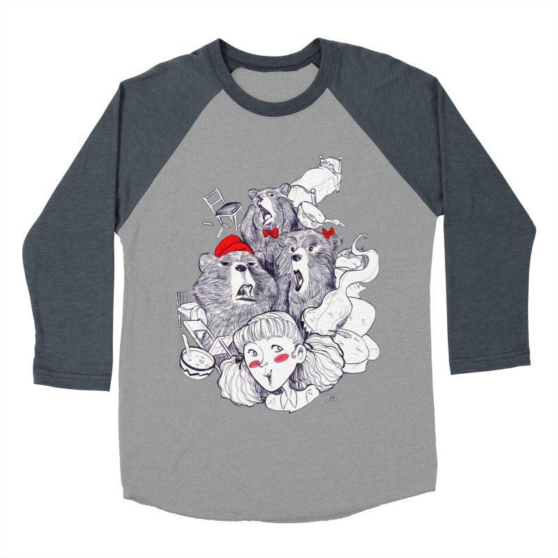 TheThreeBears Men's Baseball Triblend Longsleeve T-Shirt by roby's Artist Shop