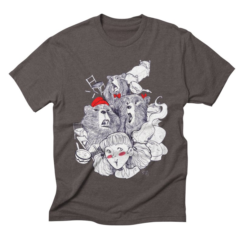 TheThreeBears Men's Triblend T-shirt by roby's Artist Shop