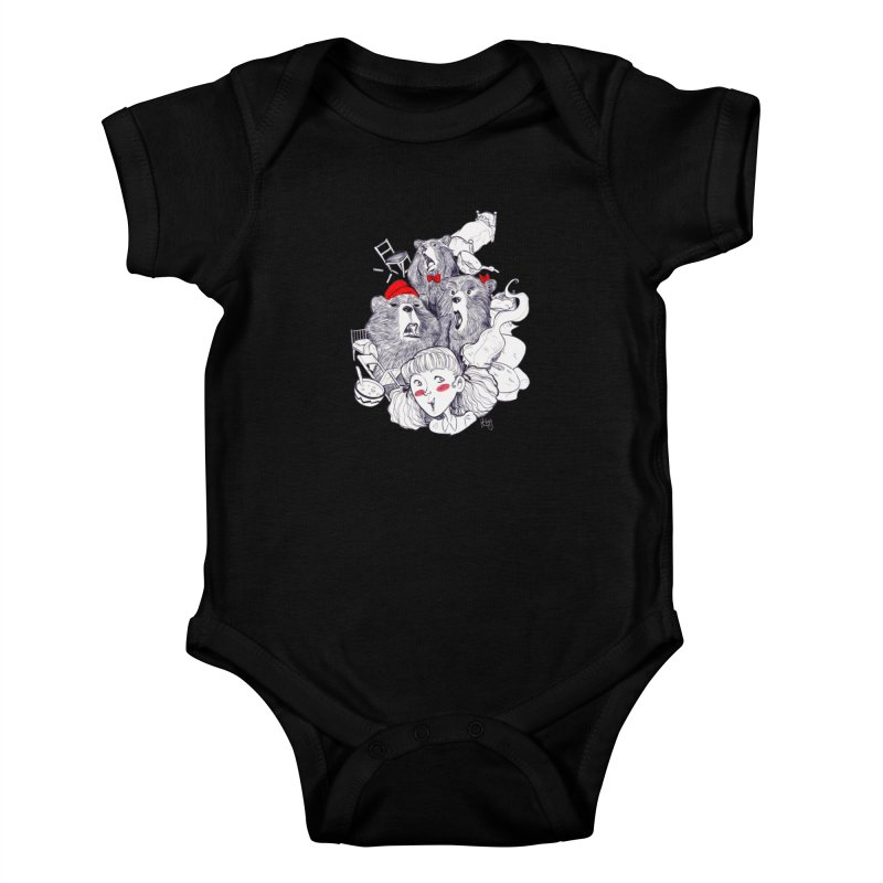 TheThreeBears Kids Baby Bodysuit by roby's Artist Shop
