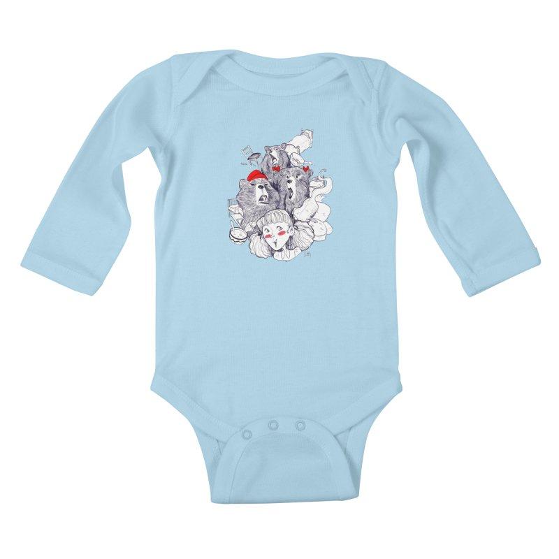 TheThreeBears Kids Baby Longsleeve Bodysuit by roby's Artist Shop
