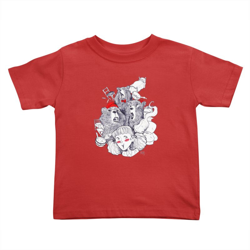 TheThreeBears Kids Toddler T-Shirt by roby's Artist Shop