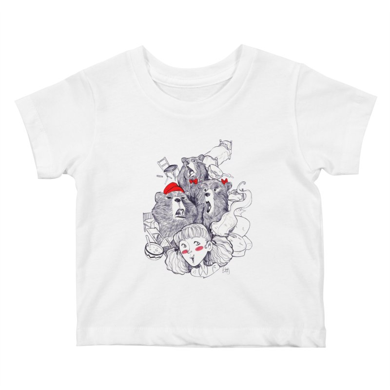 TheThreeBears Kids Baby T-Shirt by roby's Artist Shop