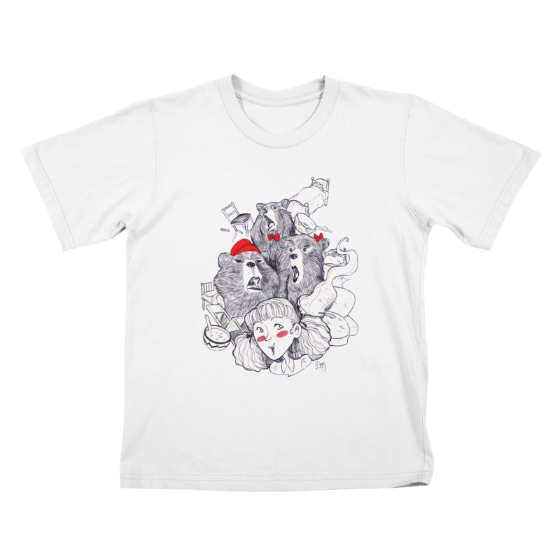 TheThreeBears Kids T-Shirt by roby's Artist Shop