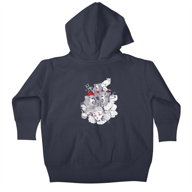 TheThreeBears Kids Baby Zip-Up Hoody by roby's Artist Shop