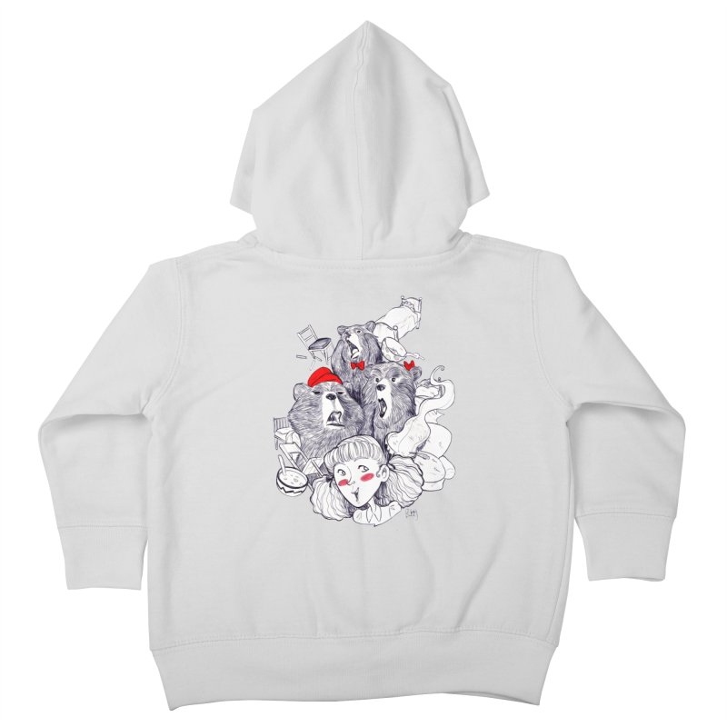 TheThreeBears Kids Toddler Zip-Up Hoody by roby's Artist Shop