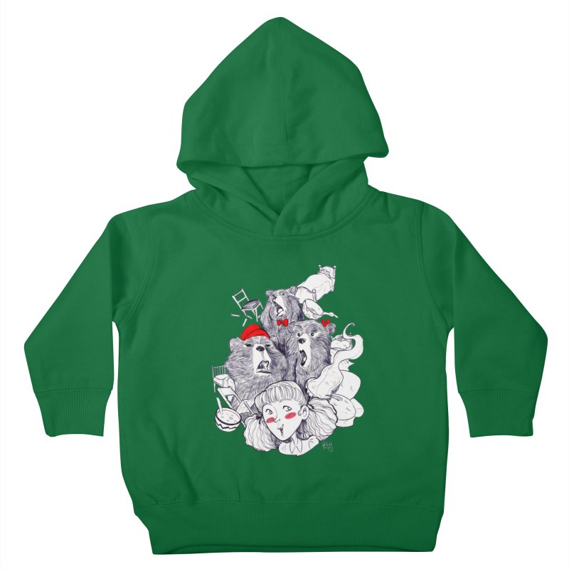 TheThreeBears Kids Toddler Pullover Hoody by roby's Artist Shop