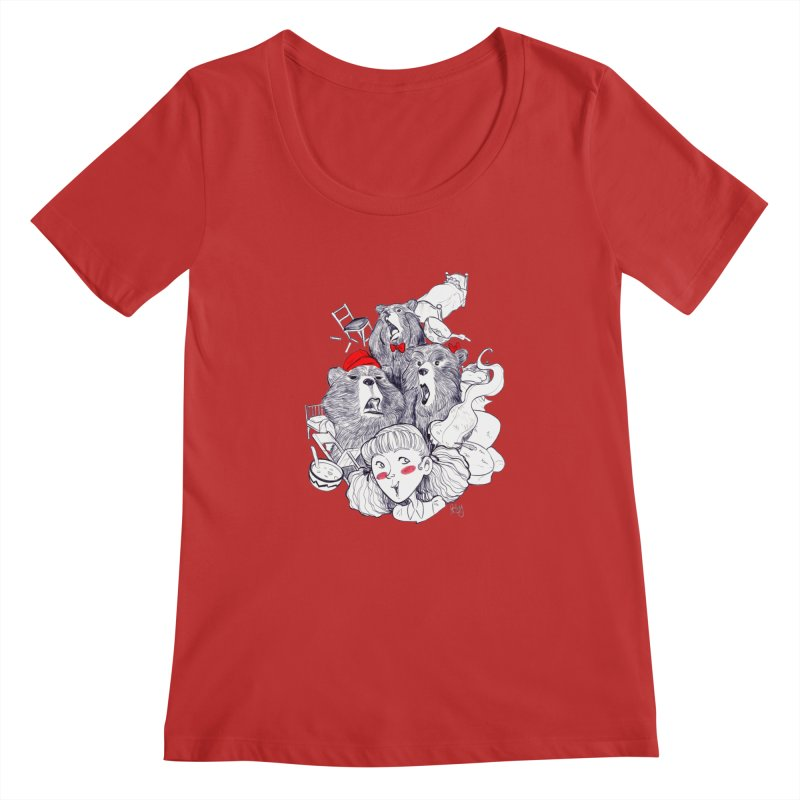 TheThreeBears Women's Regular Scoop Neck by roby's Artist Shop