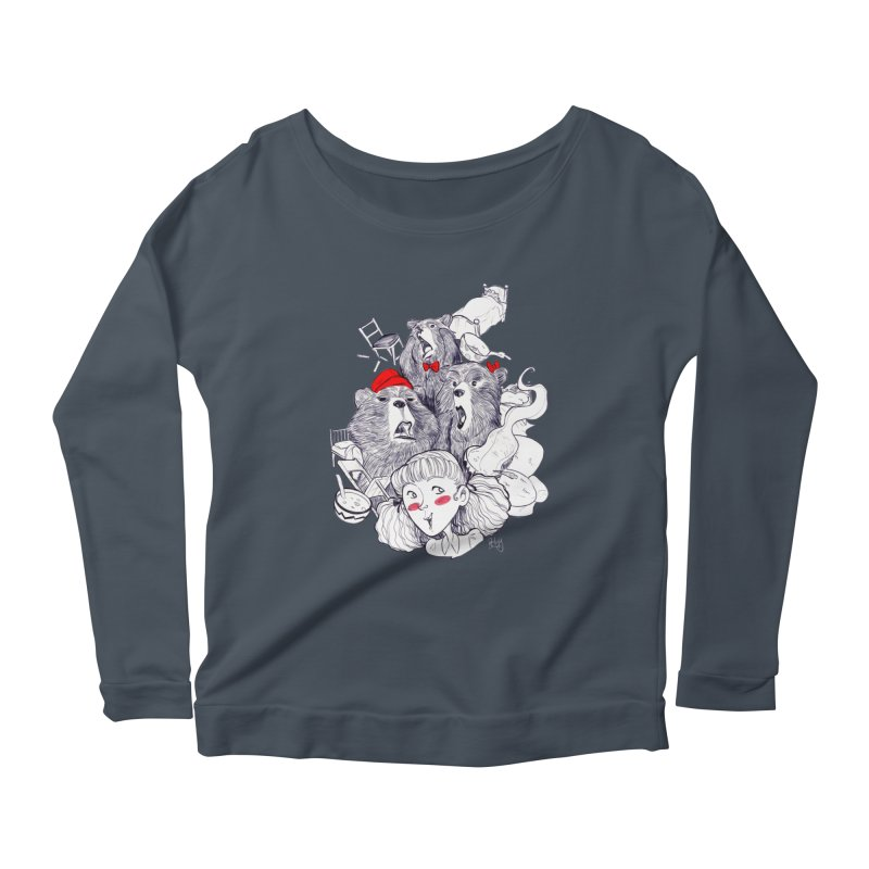 TheThreeBears Women's Scoop Neck Longsleeve T-Shirt by roby's Artist Shop